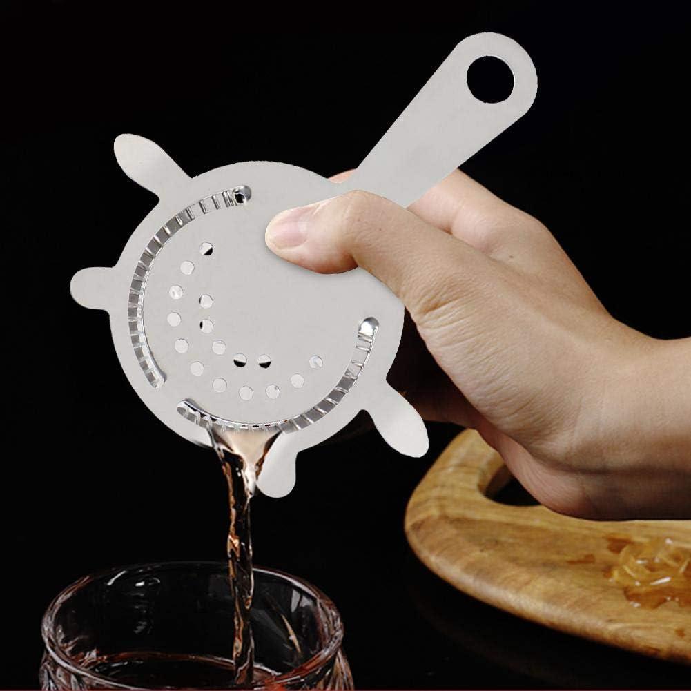 Colador de barra de acero inoxidable Coctelera Coctelera Resorte de alambre Bar casero Colador de hielo Camarero Herramienta de filtro de bebidas mixtas
