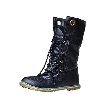 Mujer y Niña otoño fashion Botines,Sonnena ❤ Botas de mujer Casual Winter Fashion Band Longitud del tobillo femenino Botas amor en otoño Zapatos Casuals ...