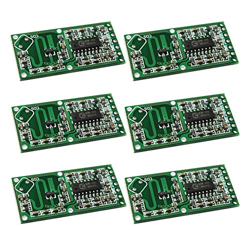 Onyehn 6 pcs/lot Smart Electronics Human Body Induction Module RCWL-0516 Microwave Radar Inductive Switch Module Intelligent Sensing Detector 5-7M Detection Distance 4-28V 100mA