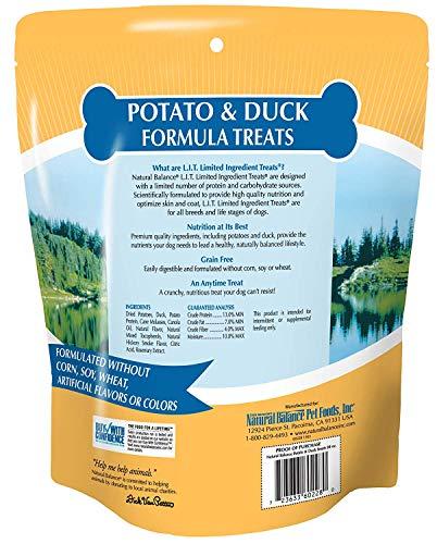 Natural Balance Limited Ingredient Treats Potato & Duck Formula Dog Treats, 28 Ounces, Grain Free