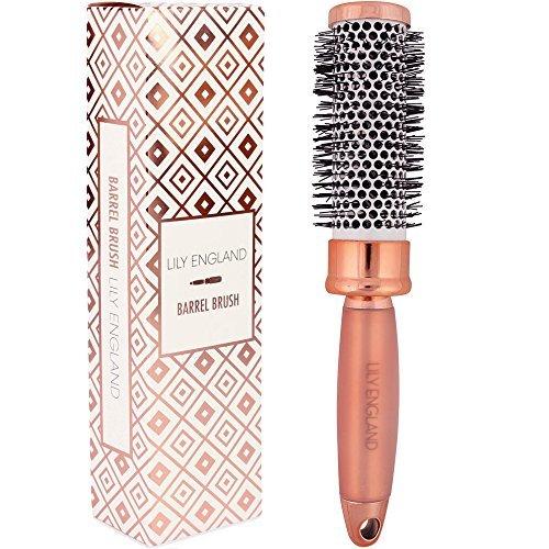 Lily England Round Barrel Brush - Radial Ceramic Hair Brush for Blow Drying - Rose ()