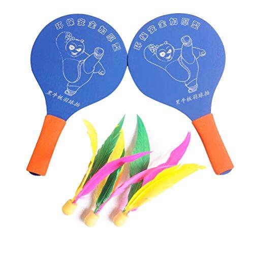 WINOMO Goodminton-Beach Paddle Ball Game Badminton Racket Set Racquet Game with 3 Extra Birdies