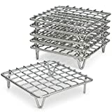 ARROW & EAVES Mini Stainless Steel Cooking and Cooling Rack, Trivets, Set of 6 - Small, 4'' Metal Trivet Stand for Round Pots, Pans, Hot Dishes, Instant Pot, Toaster Oven, Steamer Cooking, Baking Racks