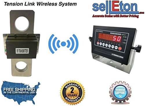 Selleton 200,000 Lbs X 50 Lb Tension Link Wireless Hanging Crane Scale Overhead Load ()