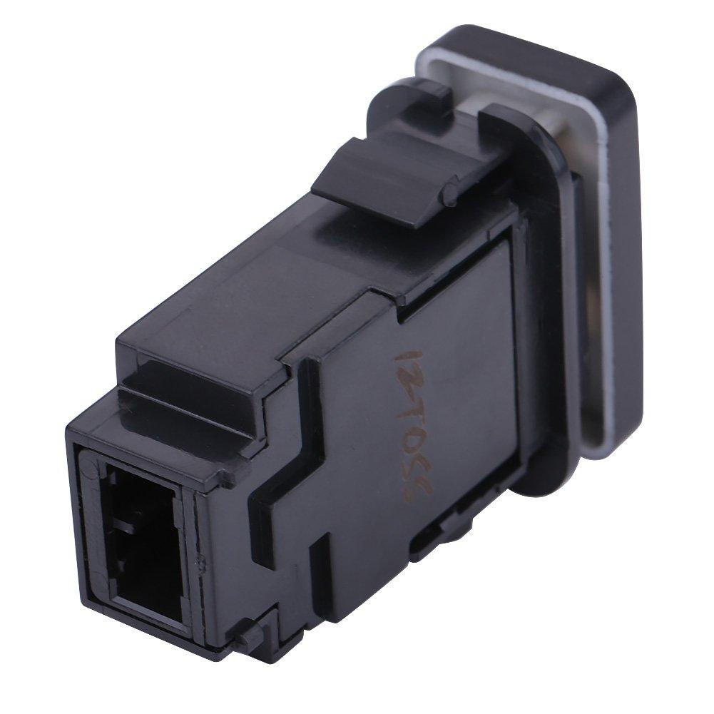 LED LIGHT BAR double light switch,12V 0.5A 38.75 20.8mm Blue double light switch with 200MM line