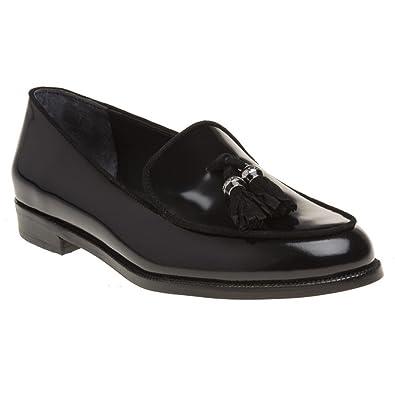 Lauren Ralph Lauren - Mocasines de Piel para Mujer Negro Negro: Amazon.es: Zapatos y complementos