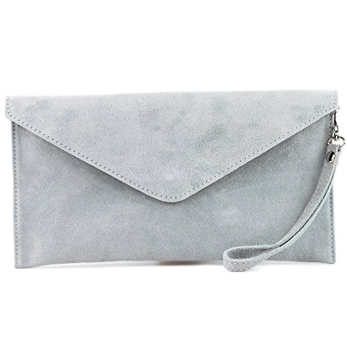 Blue leather bag bag Wrist bag Clutch bag bag Wild Shoulder handcuffs modamoda Underarm T106 ital Ice de Evening Leather pwqnZUO