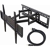 Videosecu Dual Arm TV Wall Mount Bracket for Sony Bravia 32, 37, 40, 42, 46, 50, 52, 55,58,60,62,63,65,70 inch LCD LED Plasma HDTV M65