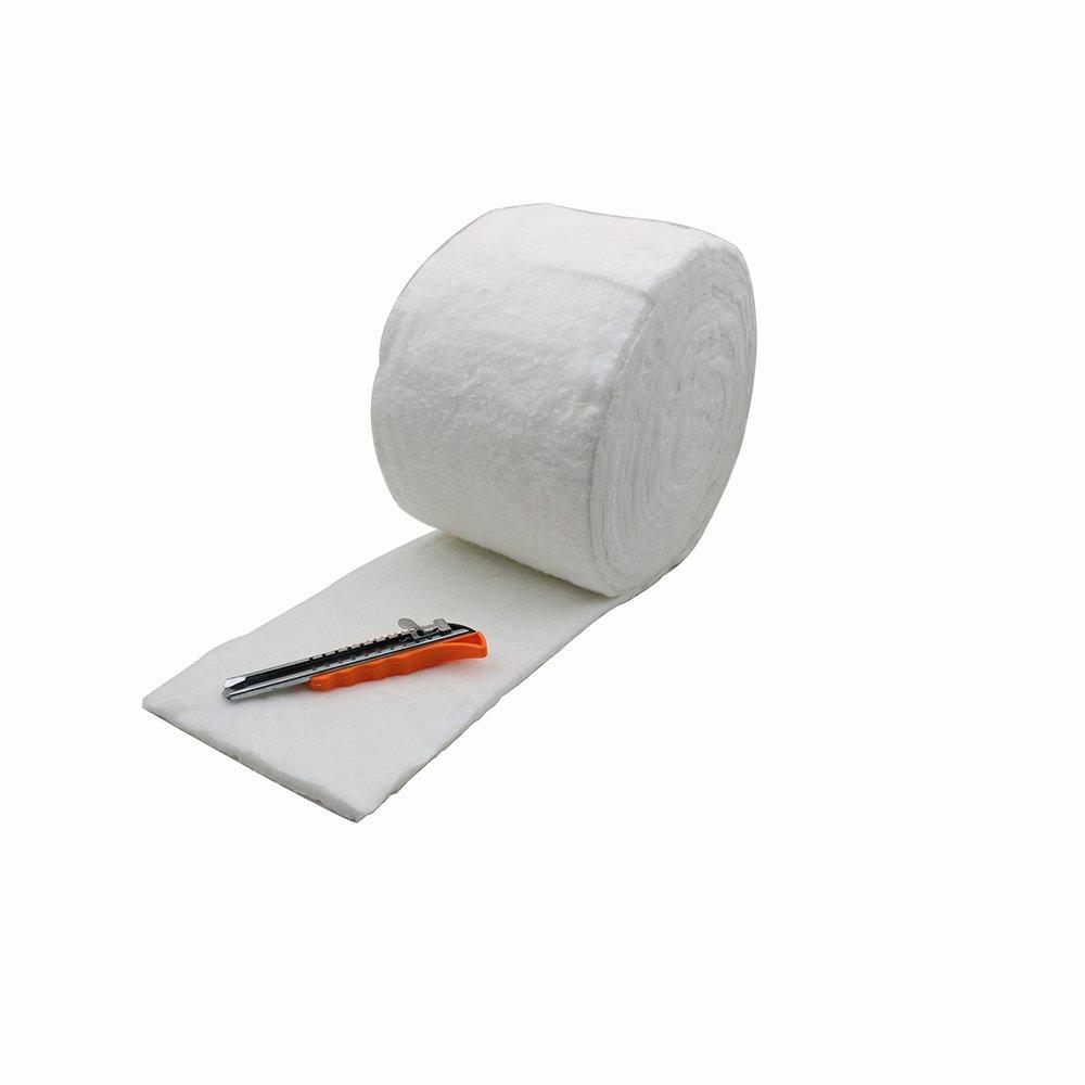 HM&FC 0.4(Inch)x 7(Inch)x 22(Feet) Ceramic Fiber Insulation Blanket 2300F