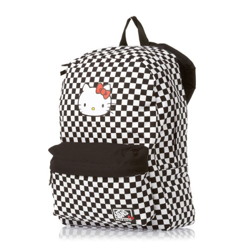 62d2533350c2 Vans Womens Checkerboard Hello Kitty Backpack - (Hello Kitty Dots)  Black Checker - Buy Online in UAE.