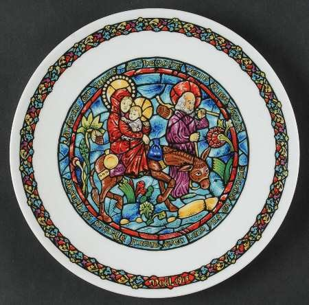 D'ARCEAU LIMOGES - Flight into Egypt Noel Vitrail-Christmas for sale  Delivered anywhere in USA