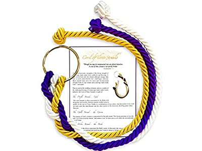 Wedding Ceremony Cord of Three Strands Wedding Knot with Ceremony Card