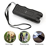 A-SZCXTOP Newest Ultrasonic Dog Bark Deterrent Puppy Repeller Trainer Tool And LED Emergency Lamp With Wrist Rope for Prevent Dog Wild Anmial Attacks Flashlight Ideal for Camp Travel Outdoor Activity