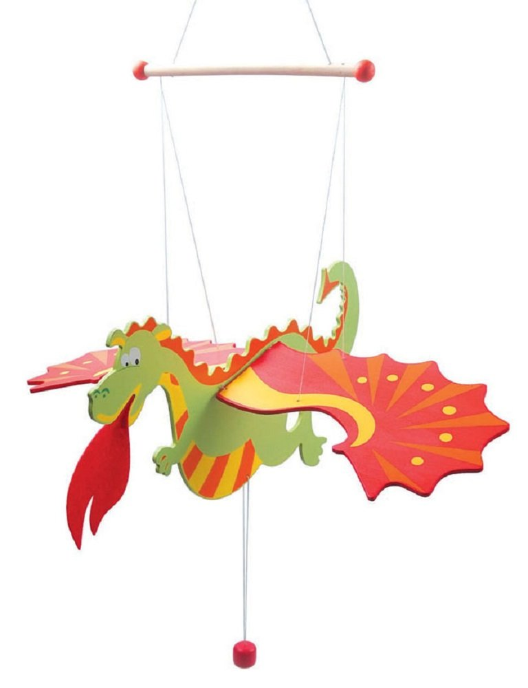 Wooden Dragon Flying Mobile In Gift Box