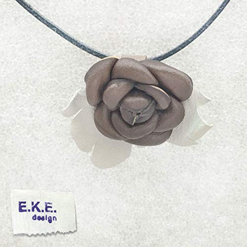 E.K.E. NATURAL JEWELRY | Leather Necklace Pendant | WOMEN'S FASHION JEWELRY | LEATHER NECKLACE PENDANT | Pure leather craft, forged in leather and fire | WOMEN'S LEATHER ACCESSORIES | UNIQUE JEWELRY from EKE