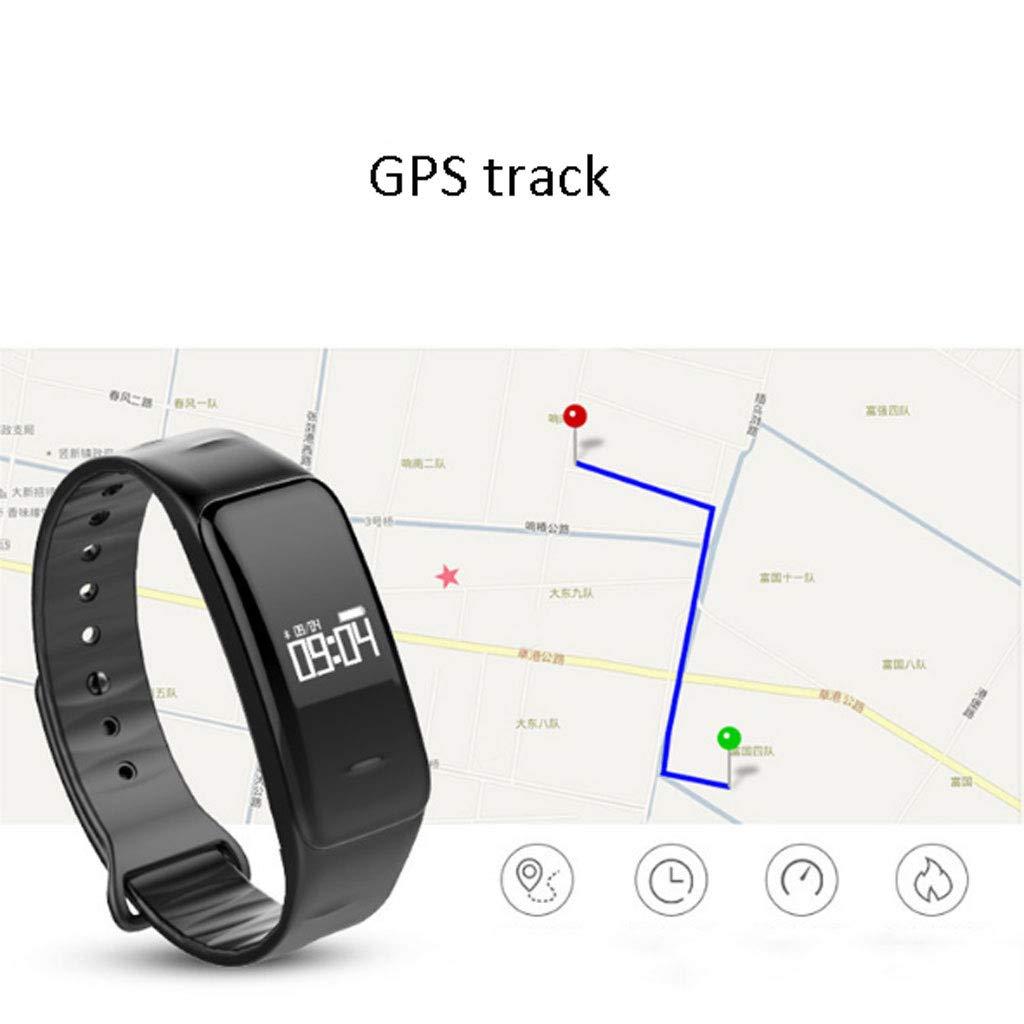 Mjb IP67 impregnerat intelligent armband blodtryckspuls, övervakar Bluetooth-sömn, intelligent klocka övervakar BLÅ
