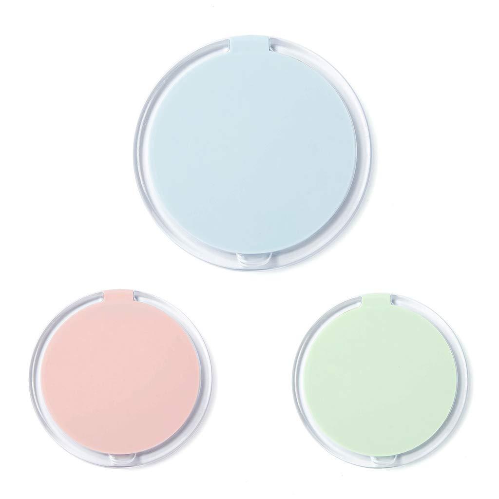 KunmniZ® 1 pieza plegable redondo mini bolsillo espejo maquillaje cosmético herramienta de un solo lado flamencos patrones portátil color al azar