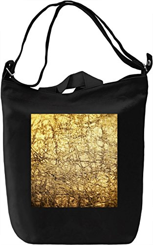 Golden Print Borsa Giornaliera Canvas Canvas Day Bag| 100% Premium Cotton Canvas| DTG Printing|