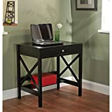 Simple Living Black X-design Writing Desk, Office Desk, Small Office Desk, Laptop Desk, Compact Desk, Black Compact Desk, Compact Writing Desk, Contemporary Desk, Black Compact Office Desk Review