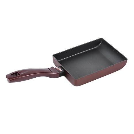 Sartén de Aluminio Antiadherente sin Humo,Cuadrado Utensilios de Cocina de Panqueque de Cocina Olla