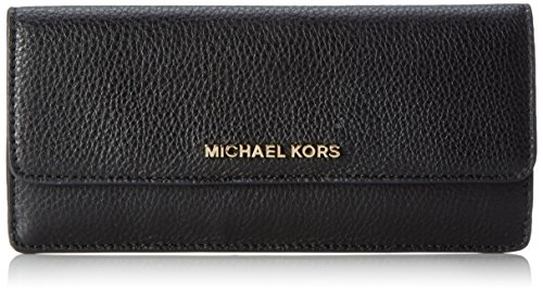 MICHAEL Michael Kors Women's Flat Wallet, Black, One Size by MICHAEL Michael Kors