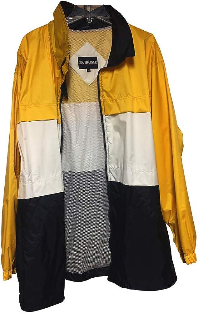 Big and Tall Rain Sailing Jacket with Hidden Hood