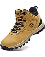 Jinta Shoes Mens Womens Winter Snow Boots Hiking Climping Booties Warm Waterproof Fur Lined Non Slip Leather Ankle US 4-14.5