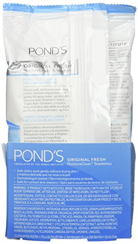 Amazon.com: Ponds Wet Cleansing Towelettes, Original All Day Clean, 5 Count(pack of 3): Beauty