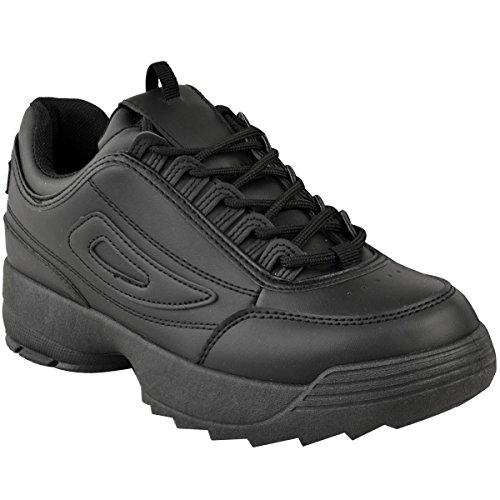 Piel Retro Blanco EN Sint heelberry Fashion Gimnasio Zapatillas Mujer Zapatos Grueso Deporte Disruptor Thirsty Negros Zapatillas xpz6zqwF