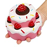 Toys : Rednow Jumbo Scented Slow Rising Squishies Cheeki Pink Strawberry Cake Squishy Kawaii Squishy Toys For Kids and Adults