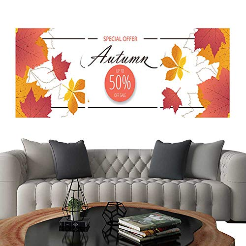 (UHOO Prints Wall Art PaintingsAutumn Sale Flyer Template with Lettering Bright Fall Leaves Poster Card Label Banner Design Customizable Wall Stickers 20