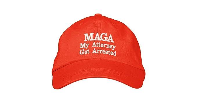 a92b88b5727 Ezone My Attorney Got Arrested Hat Anti Trump MAGA Cap