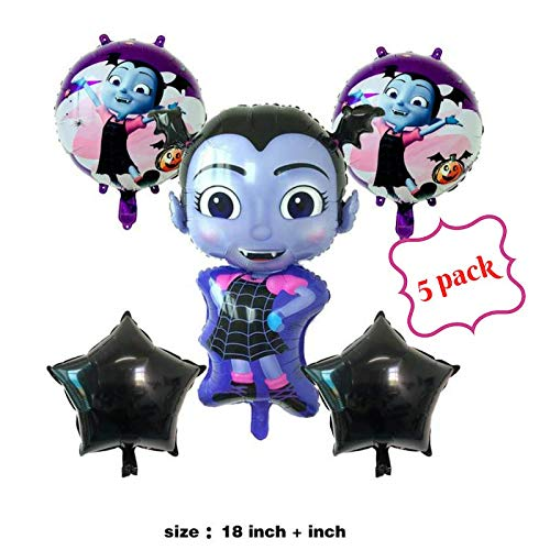 Vampirina Balloon, Birthday Party Supplies 5 Pack Balloons, Disney Party Supply Decorations Girl, Shoppinesonline, USA Seller.