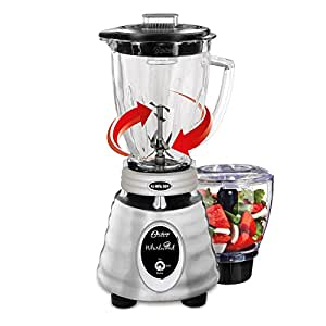 Oster Heritage Whirlwind Blender with Glass Jar and Bonus Food Processor Attachment