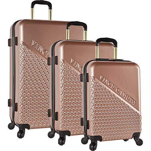 Vince Camuto Sierrah 3 Piece Spinner Luggage Set (Rose Gold)