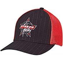 PBR Men's Pinstripe Mesh Snap Baseball Cap Black One Size