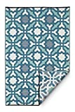Fab Habitat Seville Indoor/Outdoor Recycled Plastic Rug, Multicolor Blue, ( 8' x 10')