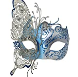 light blue mardi gras mask - Mysterious Venetian Butterfly Shiny Butterfly Lady Masquerade Halloween Mardi Gras Party Mask Blue