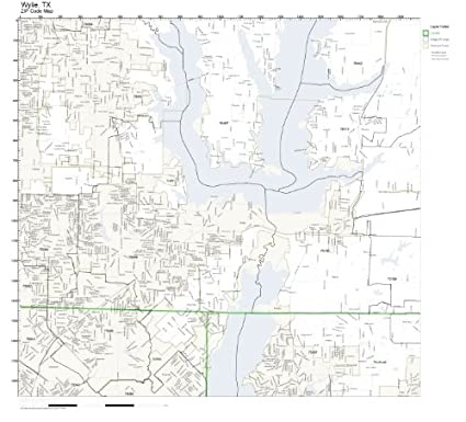 Amazon.com: ZIP Code Wall Map of Wylie, TX ZIP Code Map Laminated