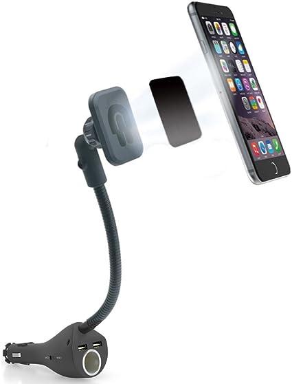 omygo magnético Soporte de montaje soporte de coche con doble USB ...
