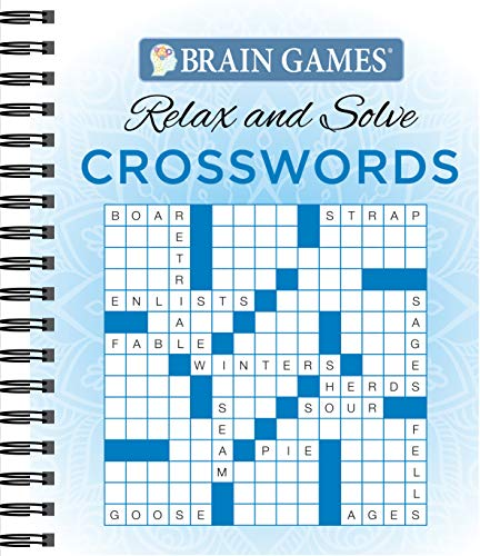 Brain Games - Relax and Solve: Crosswords (Blue)