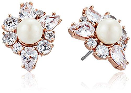 kate spade new york Flying Colors Pearl Cluster Rose Gold Stud Earrings