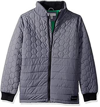 Calvin Klein Big Boys' Quilt Jacket, Dark Grey, Small (8)
