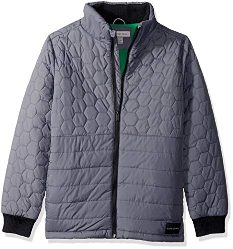 Calvin Klein Boys' Big Quilt Jacket, Dark Grey, X-Large