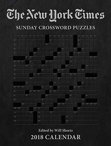 The New York Times Sunday Crosswords 2018 Weekly Planner Calendar