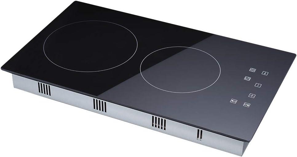 Placa de cocción de inducción integrable, vitrocerámica, con 5 zonas de cocina, 90 cm, de vidrio: Amazon.es: Grandes electrodomésticos