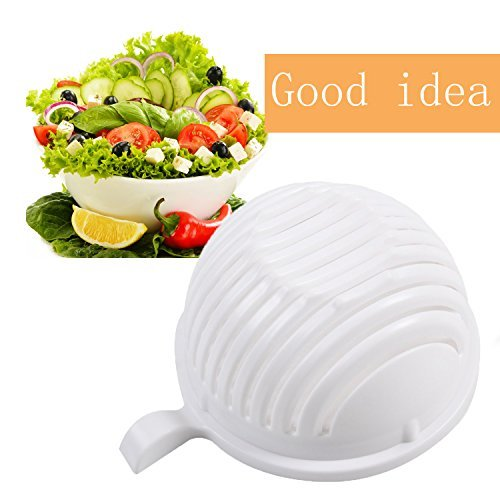 LH New Salad Cutter Bowl - Make your salad faster, 60 Second Salad Maker Salad Cutter Salad Chopper Bowl Salad Spinner-Extra Big Bowl