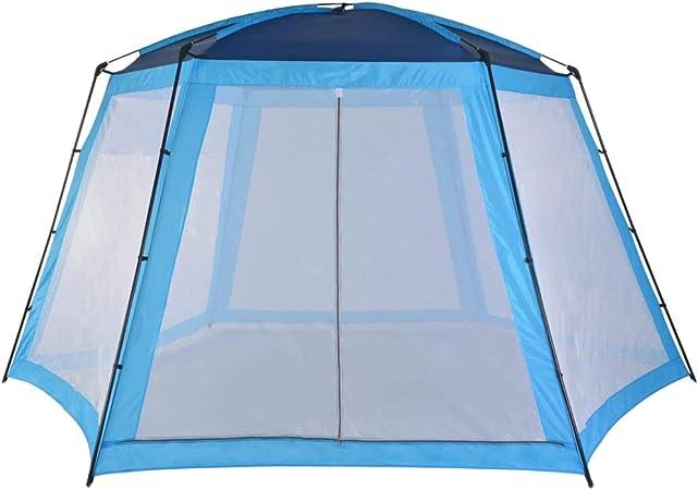vidaXL Carpa para Piscinas Accesorios para Jardín Terraza Patio Exterior Aire Libre Piscina SPA Jacuzzi Protección Refugio Sombra 500x433x250cm Azul: Amazon.es: Hogar