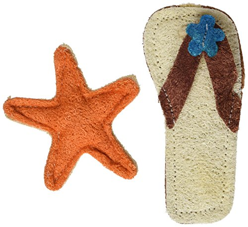 (Hip Doggie Sandal/Starfish Loofah Toy Beach Set)