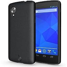 LG Nexus 5 Case - Diztronic Matte Back Flexible TPU Series - Black